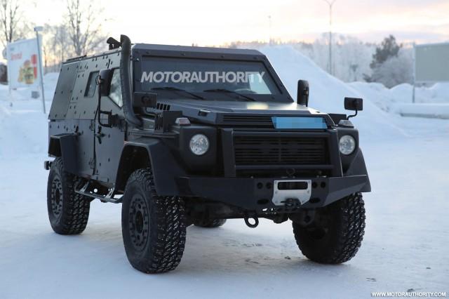 2017 Mercedes-Benz G-Class Light Armored Patrol Vehicle spy shots - Image via S. Baldauf/SB-Medien
