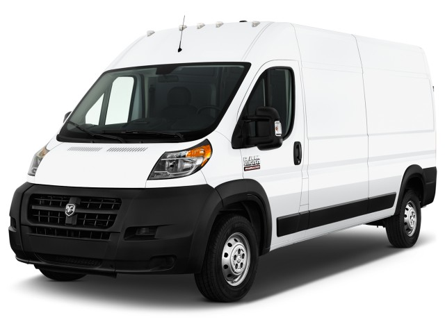 """2017 Ram ProMaster Cargo Van 2500 High Roof 136"""" WB Angular Front Exterior View"""