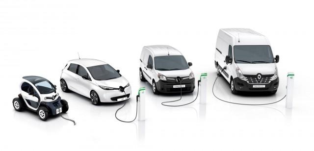 2017 Renault zero-emission lineup: Twizy, Zoe hatchback, Kangoo ZE van, and new Master ZE van