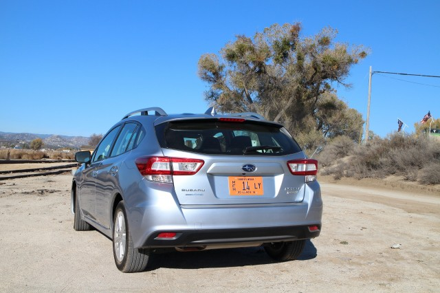 2017 Subaru Impreza, Pacific Southwest Railway Museum, Campo, California, Dec 2016