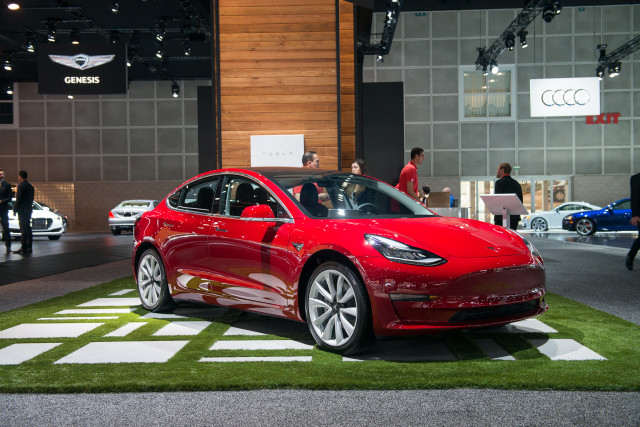2017 Tesla Model 3 Los Angeles Auto Show