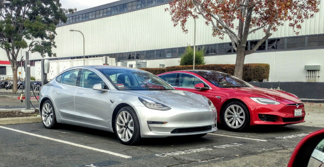 2017 Tesla Model 3 And S In Embly Plant Parking Lot Fremont