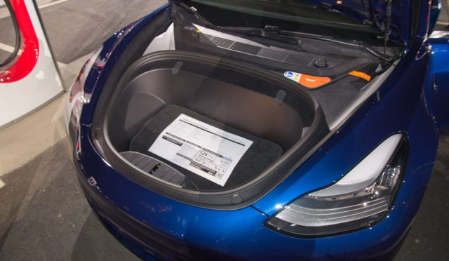 2017 Tesla Model 3 window sticker, image posted on Google Images by Andrew Rhodes, Aug 2017