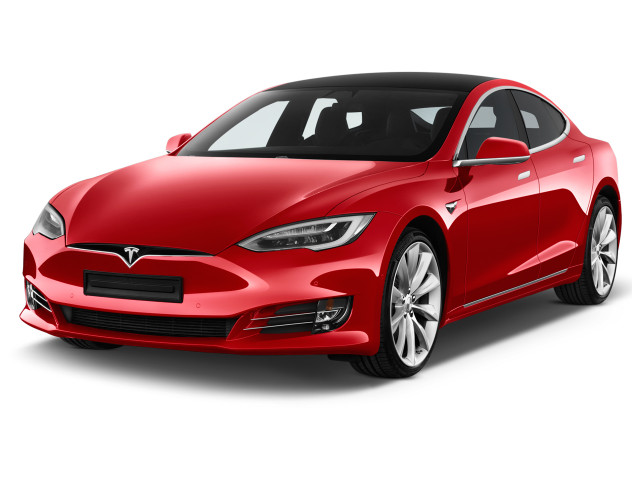 2017 Tesla Model S P100D AWD Angular Front Exterior View