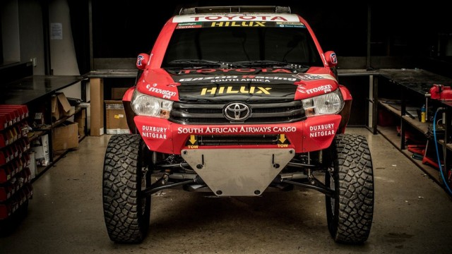Toyota reveals Hilux Evo racing truck for 2017 Dakar rally
