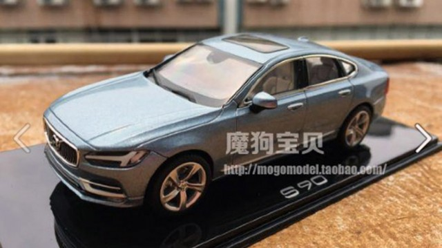 2017 Volvo S90 scale model - Image via Mogo Model