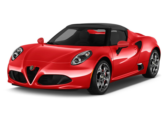 2018 Alfa Romeo 4C Spider Spider Angular Front Exterior View