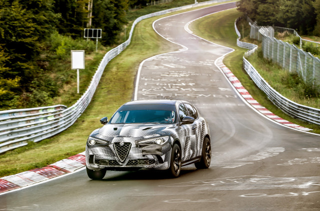 2018 Alfa Romeo Stelvio Quadrifoglio at the Nürburgring