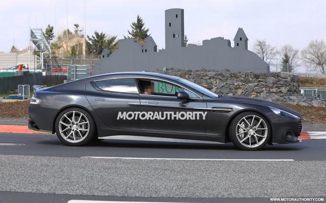 2018 Aston Martin Rapide AMR spy shots - Image via S. Baldauf/SB-Medien