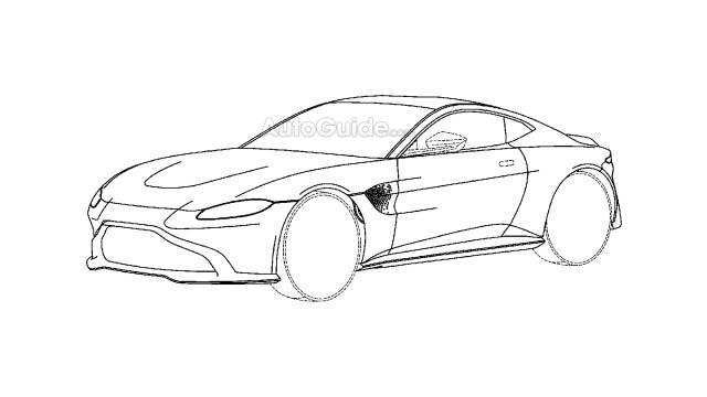 2018 Aston Martin Vantage patent drawing - Image via Autoguide