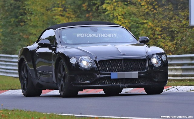 2018 Bentley Continental GT Convertible spy shots - Image via S. Baldauf/SB-Medien