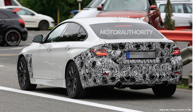 2018 BMW 4 Series Gran Coupe Facelift Spy Shots
