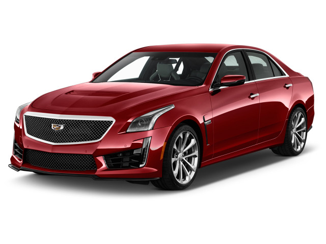 2018 Cadillac CTS-V 4-door Sedan Angular Front Exterior View