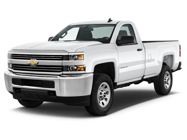 "2018 Chevrolet Silverado 2500HD 2WD Reg Cab 133.6"" Work Truck Angular Front Exterior View"
