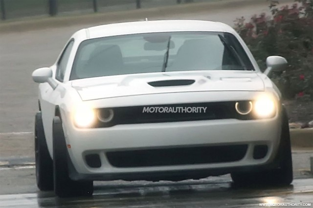 2018 Dodge Challenger ADR (wide-body SRT Hellcat) spy shots - Image via S. Baldauf/SB-Medien