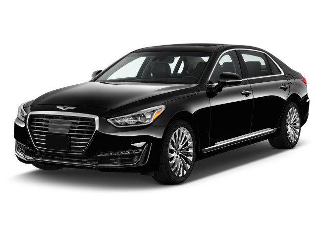 2018 Genesis G90 5.0L Ultimate RWD Angular Front Exterior View