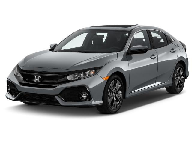 2018 Honda Civic Hatchback EX CVT Angular Front Exterior View