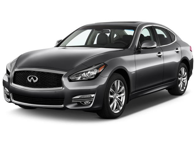 2018 INFINITI Q70 Hybrid LUXE RWD Angular Front Exterior View