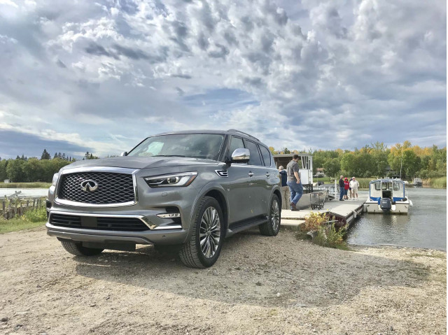 2018 Infiniti QX80 on a Canadian fishing adventure