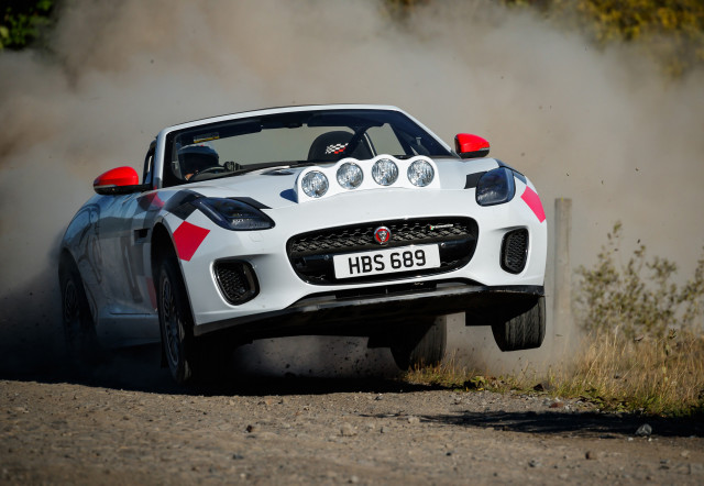 F Type Rally Car Celebrates 70 Years Of Jaguar Sports Cars