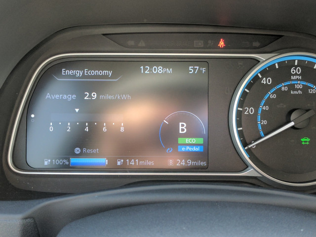 2018 Nissan Leaf Instrument Panel (and driving mode)