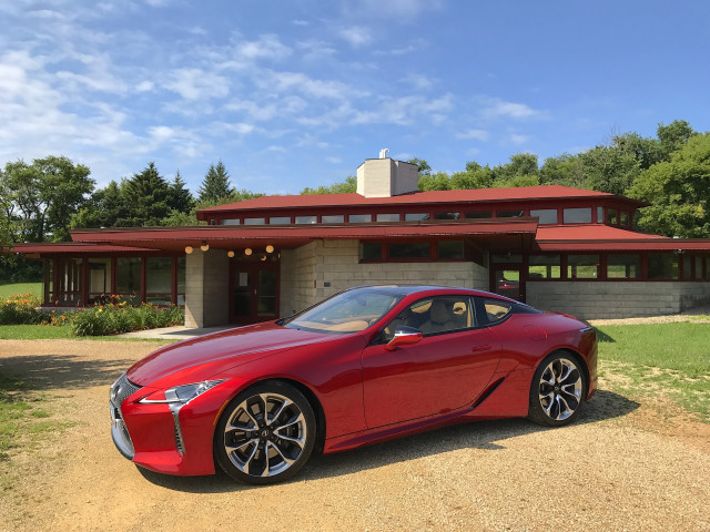 2018 Lexus LC 500 at the Wyoming Valley School