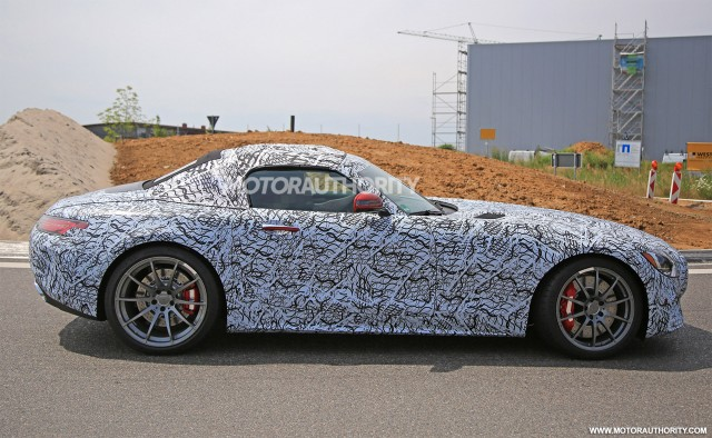 2018 ferrari suv.  Ferrari 2018 MercedesAMG GT C Roadster Spy Shots  Image Via S Baldauf Intended Ferrari Suv