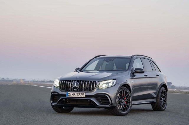 the 2018 mercedes amg glc63 and glc63 coupe are your insane compact suvs. Black Bedroom Furniture Sets. Home Design Ideas
