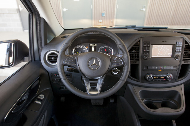2018 mercedes benz sprinter. perfect 2018 inside itu0027s business as usualu2014and nothing more the symmetrical dashboard  puts audio controls up high and climate slightly lower in 2018 mercedes benz sprinter