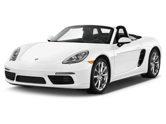 2018 Porsche 718 Boxster Roadster Angular Front Exterior View