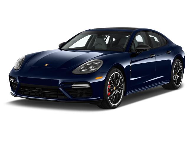 2018 Porsche Panamera Turbo AWD Angular Front Exterior View