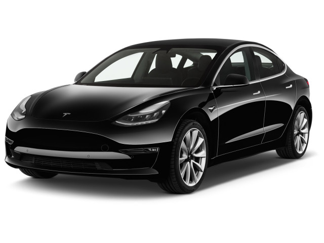 2018 Tesla Model 3 Long Range Battery AWD Angular Front Exterior View