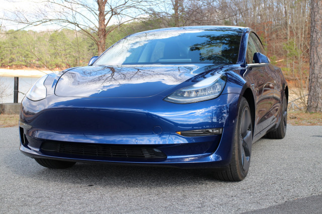 2018 Tesla Model 3 Long Range electric car road test in greater Atlanta area Feb 2018