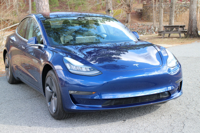 2018 Tesla Model 3 Long Range electric car, road test in greater Atlanta area, Feb 2018