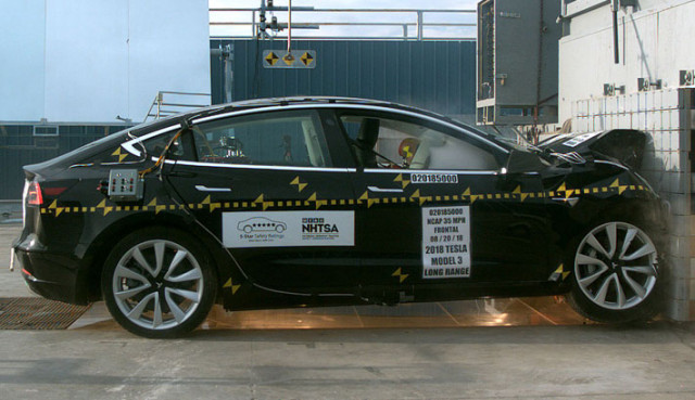 Tesla Model 3 NHTSA test
