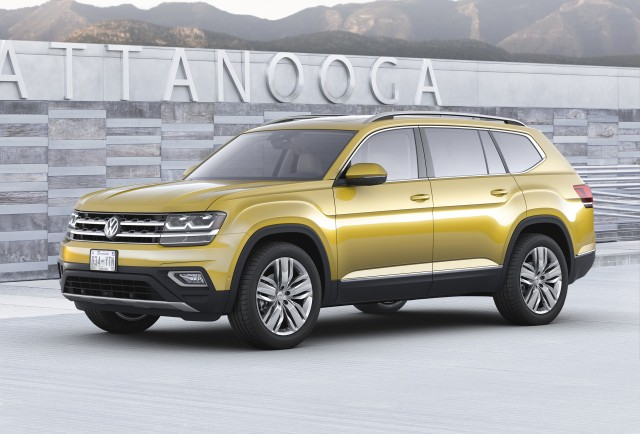2018 Volkswagen Atlas 7 Seat Suv Unveiled Plug In Hybrid Coming But When Gallery 1 Green Car Reports