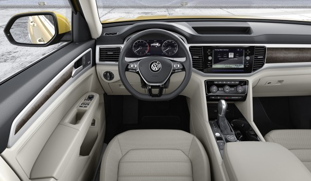 Volkswagen Atlas Seat Suv Unveiled Plug In Hybrid Coming
