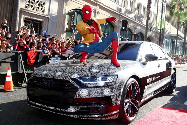 "2019 Audi A8 at the ""Spider-Man: Homecoming"" premiere"