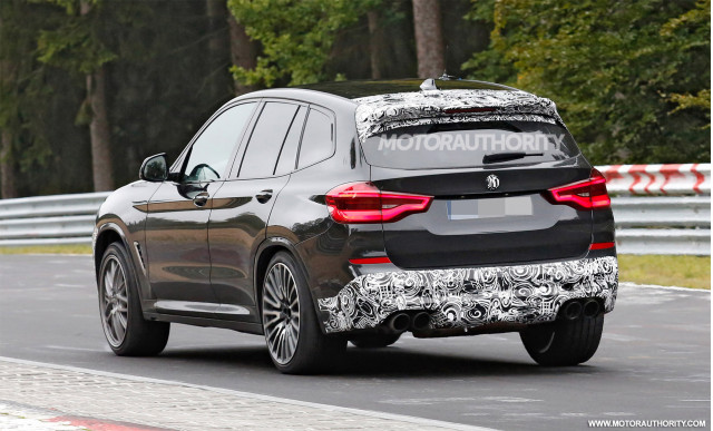 2019 bmw x3 m spy shots and video. Black Bedroom Furniture Sets. Home Design Ideas