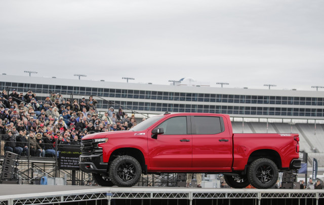 2019 Chevrolet Silverado 1500 outside the Detroit auto show