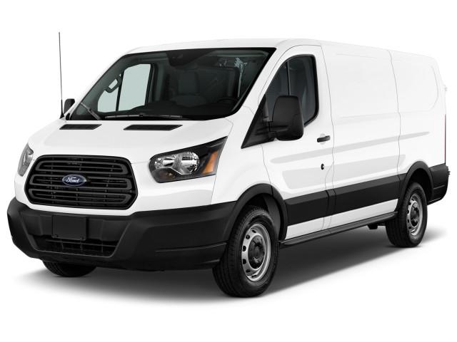 "2019 Ford Transit Van T-150 130"" Low Rf 8600 GVWR Sliding RH Dr Angular Front Exterior View"