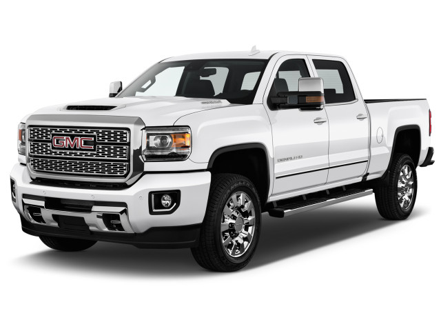 "2019 GMC Sierra 2500HD 2WD Crew Cab 153.7"" Denali Angular Front Exterior View"