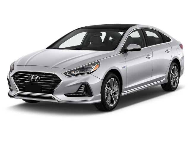 2019 Hyundai Sonata Hybrid Limited 2.0L Angular Front Exterior View
