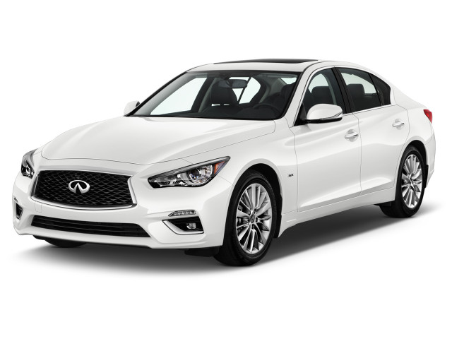 2019 INFINITI Q50 3.0t LUXE RWD Angular Front Exterior View