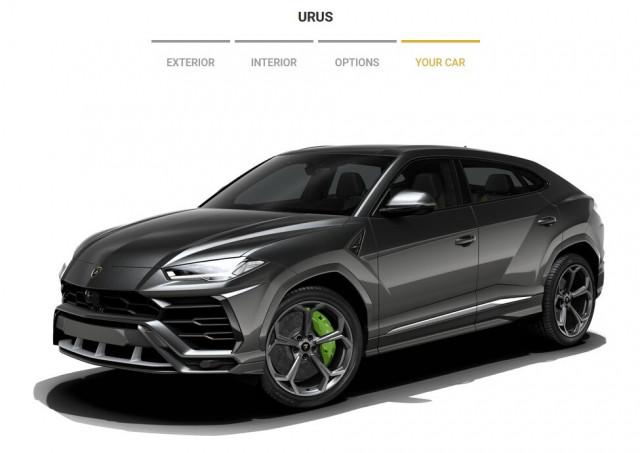 2019 Lamborghini Urus configurator