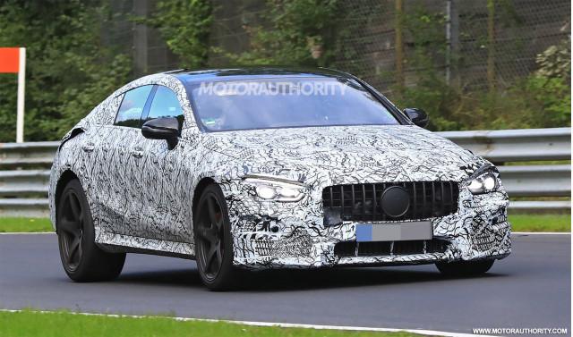 2019 Mercedes-AMG GT 4 spy shots - Image via S. Baldauf/SB-Medien