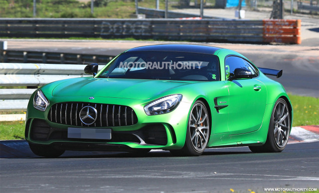 2019 Mercedes-AMG GT Black Series test mule spy shots - Image via S. Baldauf/SB-Medien