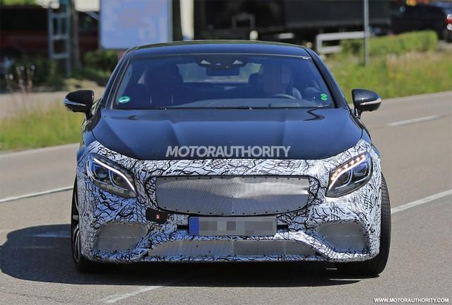 2018 Mercedes-AMG S63 Coupe facelift spy shots - Image via S. Baldauf/SB-Medien