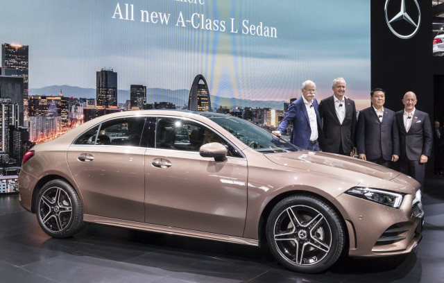 mercedes benz a class sedan makes usa debut the new entry