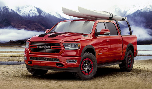 2019 Ram 1500 Big Horn Sport fitted with Mopar accessories